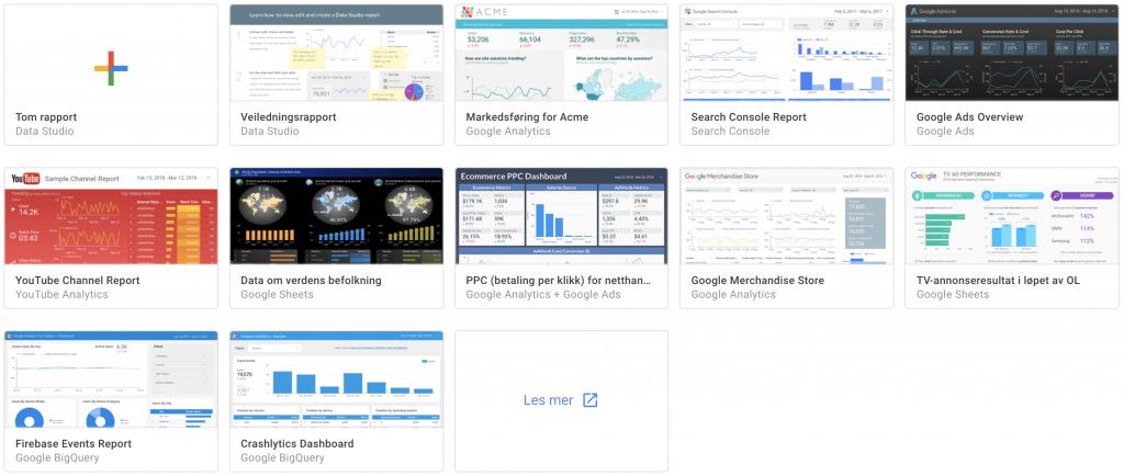 Google data studio rapportmaler