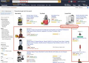 Sponsede produkter amazon ads